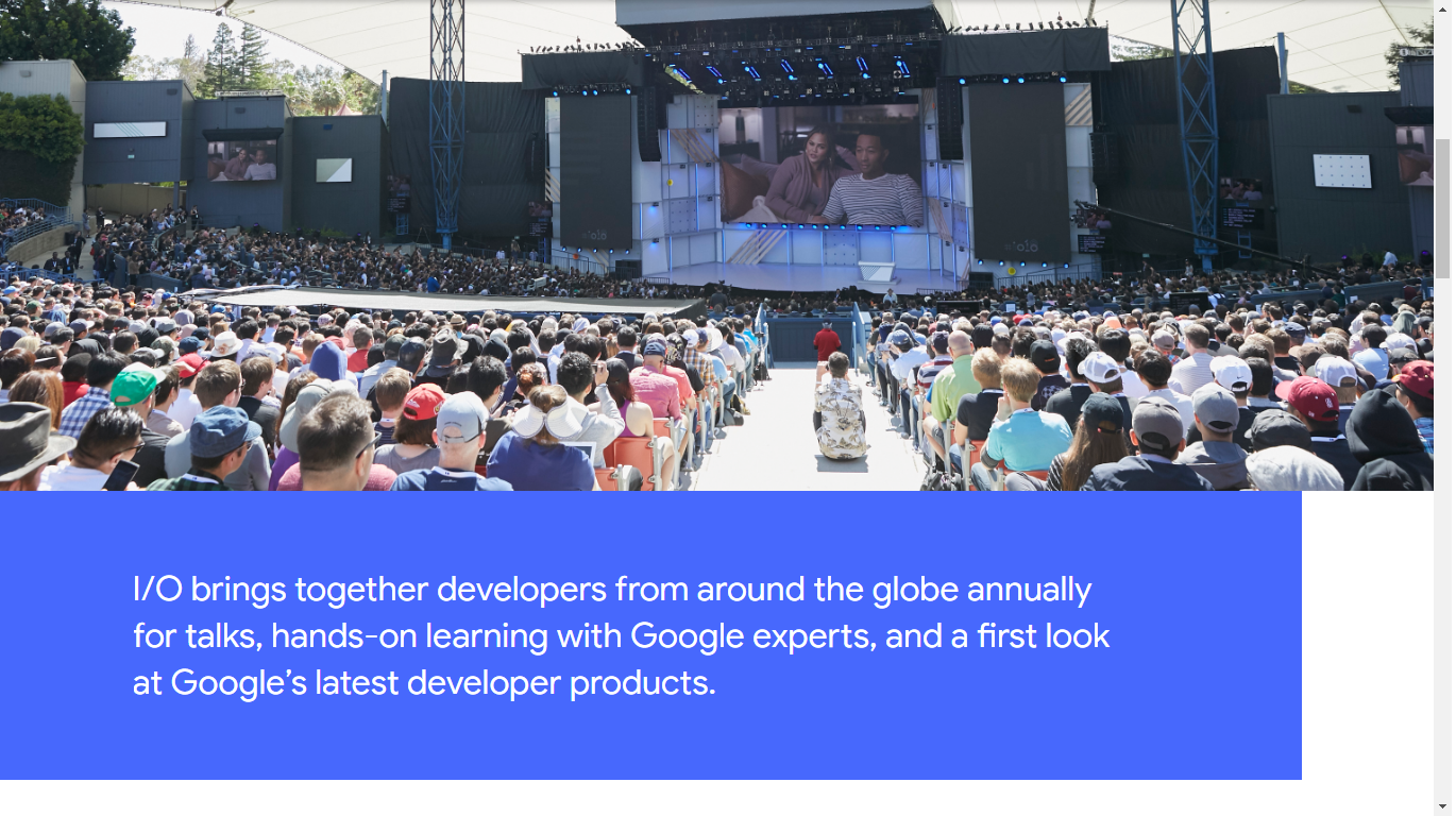 Google IO is a developera